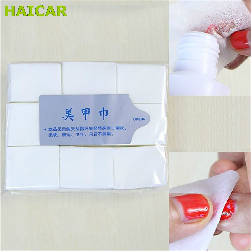 1000st Nail Remover Art Tips Manikyr Polska Remover Clean Cotton Wipes Lintpads Papper F914