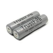 2pcs/lot Trustfire Protected 18650 3.7V 2400mAh Camera Torch Flashlight Lithium Battery Rechargeable Batteries with PCB