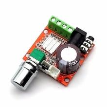 لوحة مكبر للصوت ايفي صغيرة 2*10 واط لوحة وحدة مكبر للصوت مرحبا فاي PAM8610 12 فولت للصوت الكمبيوتر الأحمر