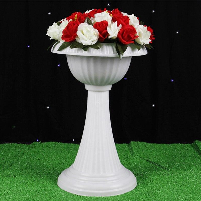 Европейский стиль римские колонны белого цвета Пластиковые Столбы дорога цитируется свадебные реквизит украшения для мероприятий 2 шт./партия - 5