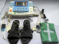 7 каналов Электрический физиотерапевтическое оборудование EA F29 с ультразвук, лазер, Отопление терапия стимулятор тела отдохнуть импульсный