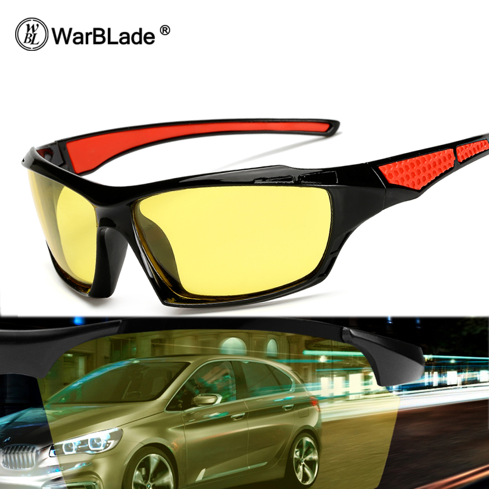 WarBLade Night Vision Glasses Driver Driving Night Vision Glasses Driving Yellow Lens Classic Anti Glare Vision Driver Safety