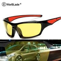 WarBLade Nachtsicht Gläser Fahrer Fahren Nachtsicht brille Fahren Gelb Objektiv Klassische Anti Glare Vision Fahrer Sicherheit