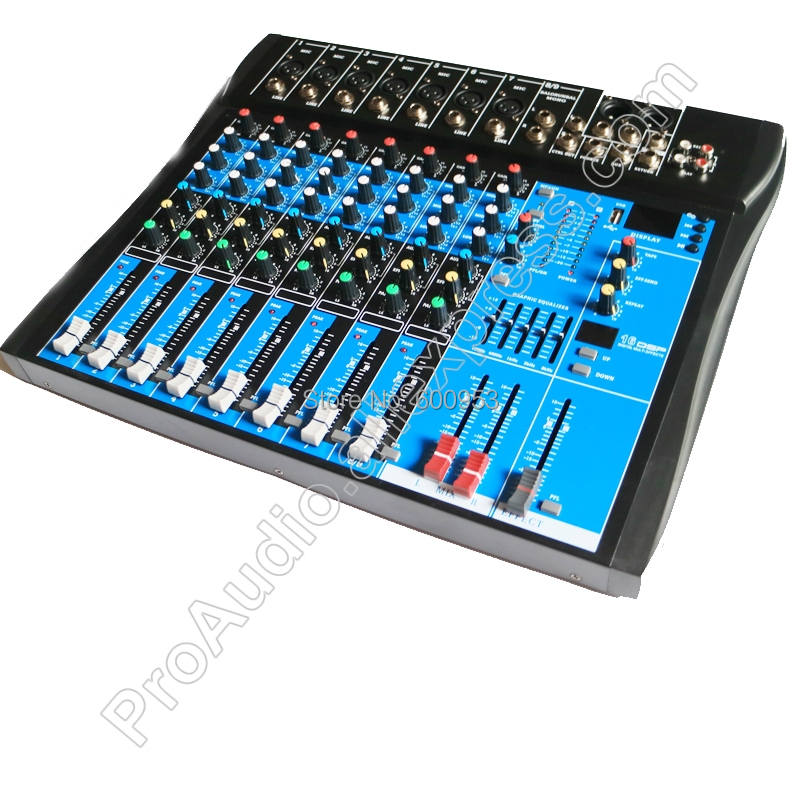 MICWL 8 Channel Microphone Sound Stage Mixer Mixing Console with 16 DSP Digital effects + USB + Bluetooth staraudio pro 4 channel 2000w live studio dj stage amplifier powered mixer with mp3 bluetooth usb sd 16 dsp smx 4000b