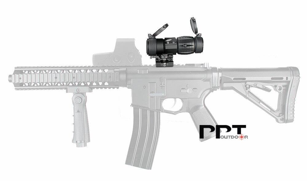 Visão óptica ppt 3x lupa scope caça