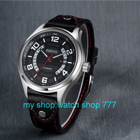 43mm Parnis Sapphire Crystal Dial Automatic Self Wind Movement Men s Watch High quality 2016 new
