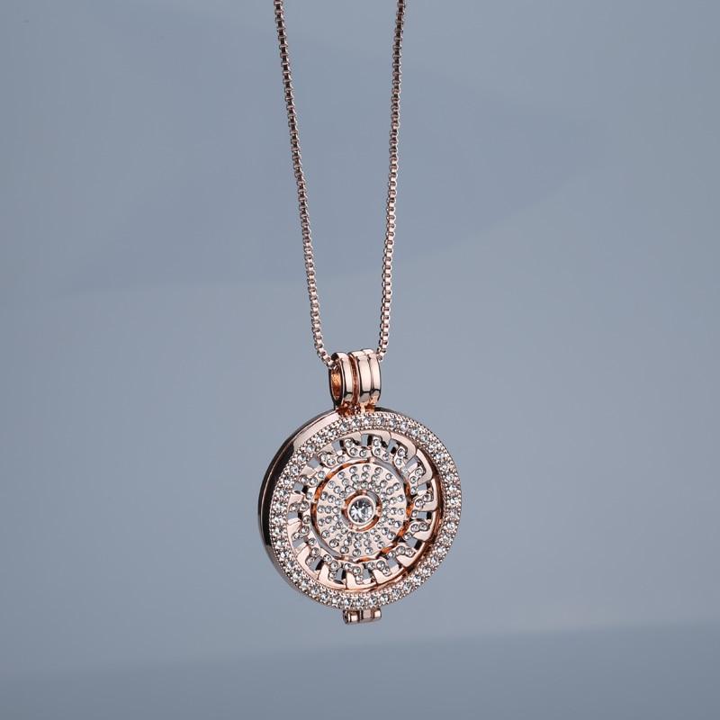 New rose gold antar hangeable kalung 35mm kalung fashion cocok saya - Perhiasan fashion - Foto 4