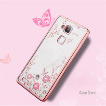 For Huawei Honor 8 Case Premium Secret Garden Butterfly Soft TPU Plating Bling Glitter Transparent Back Cover Mobile Accessories(China)