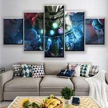 Modern Canvas Pictures Print Wall Art Frame 5 Pieces Movie Poster Avengers Infinity War Home Decor Living Room Or Bedroom