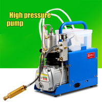 High pressure 30 MPA pump water cooling Air Electric Inflator mini CFP On Air Compressor 220 V with alarm and filter 1.8KW