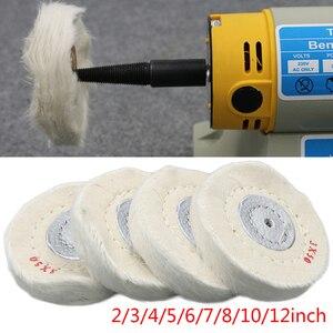 """Image 2 - 2 """" 12"""" räder Polieren Polieren Rad Baumwolle Lint Tuch Polieren Rad Gold Silber Schmuck Spiegel Polieren Rad"""