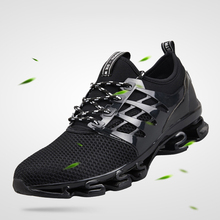 MYNEYGRE Running Shoes Breathable Men Sneakers Bounce Sports Shoes Jogging Lace-Up Mesh Walking Athletic Shoes