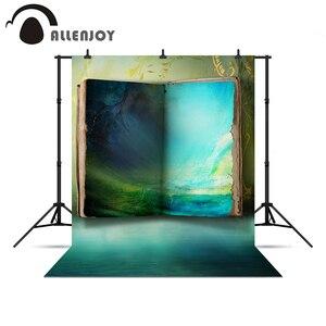 Image 1 - Allenjoy fondo para sesiones de fotos Libro Azul misterioso país de las Maravillas pintura al óleo fondos para estudio fotográfico para una sesión de fotos