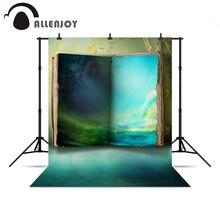 Allenjoy sfondo per servizi fotografici Libro blu misterioso paese delle meraviglie pittura a olio sfondi per foto in studio per un servizio fotografico