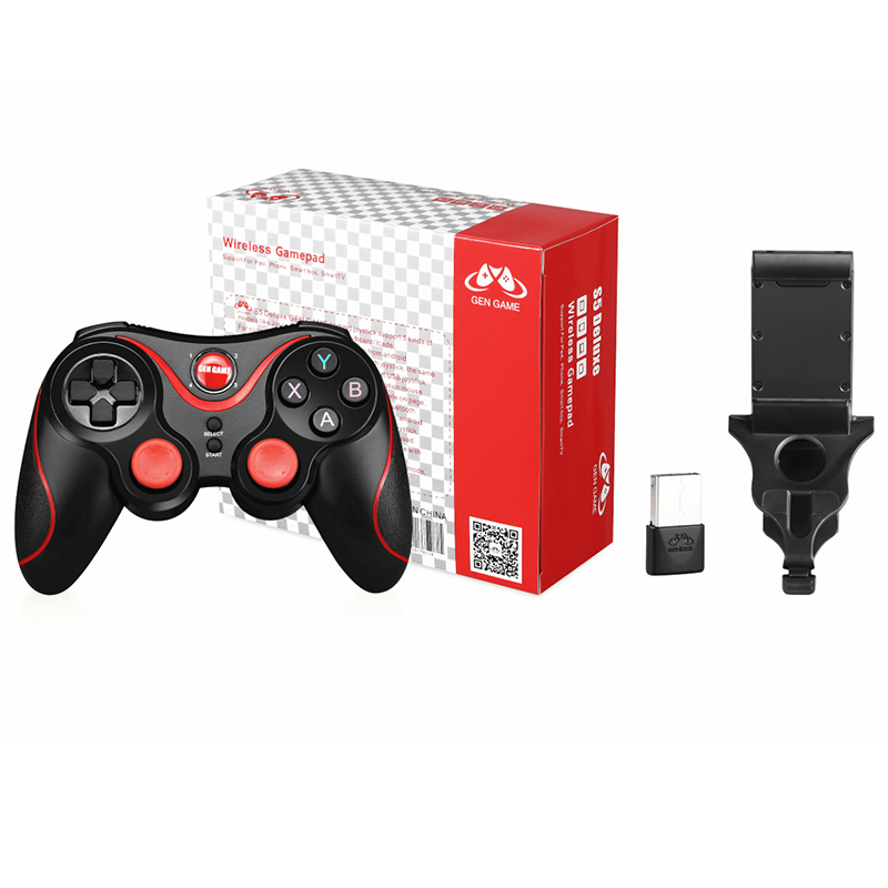 S5 Deluxe Wireless Bluetooth Joystick Gamepad Gaming Controller Remote Control for Android IOS PC TV box PS3 Gamepad Deluxe S5