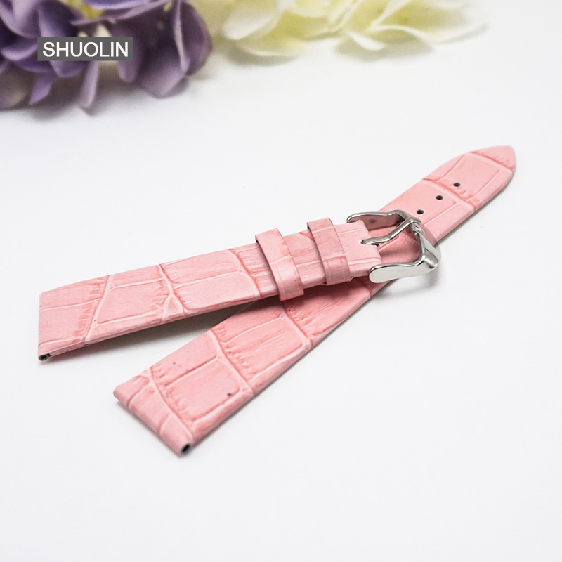 Multicolor Watch Straps 12mm 14mm 16mm 18mm 20mm 22mm 2019 new bracelet watchstrap watchbands 18MM watchband for women J030 PI in Watchbands from Watches