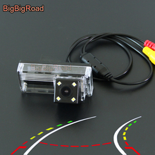 BigBigRoad Car Intelligent Dynamic Trajectory Tracks Rear View Backup Camera For Toyota Land Cruiser 200 LC100 LC120 LC200 Prado броши evora 618579 e