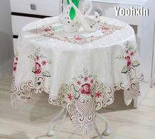 Modern Square Lace Embroidery tablecloth Table cloth mantel dining tea coffee Table Cover nappe kitchen Christmas wedding decor new white lace cotton crochet tablecloth coffee table cloth mat round tea table cover dining christmas xmas party wedding decor