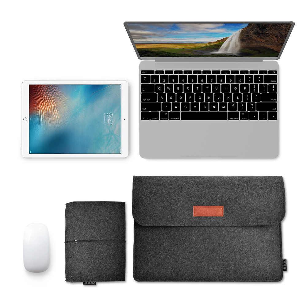 """Dodocool 12 """"13"""" Сумка для ноутбука чехол войлочный рукав чехол для переноски 4 отсека с Сумка для мыши для Apple 13 """"MacBook Air Pro"""