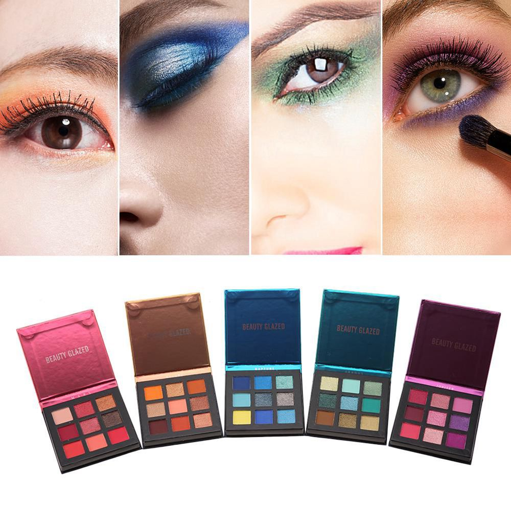New Arrival 9 Color Eyeshadow Palette Matte Nude Eyeshadow Makeup Powder Glitter Eyeshadow Palette Charming Women Makeup Tools in Eye Shadow from Beauty Health