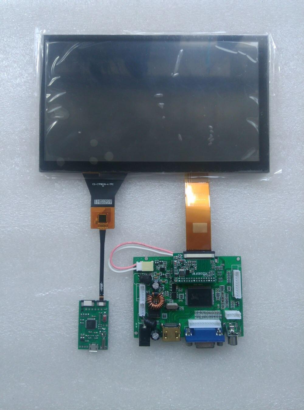 CARPC Kit 8' 1024 600 LCD Hohe Helligkeit WIN7 WIN8 WIN10 Android Kapazitiven Touchscreen HDMI + VGA + 2AV umkehrung Der Priorität