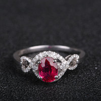 Diamond Rings Wholesale 18K Gold Gems 100 Natural Ruby Jewelry Women Fashion Finger Ring
