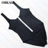 OMKAGI Brand 2018 One Piece Swimsuit Swimwear Women Sexy Push Up Female Solid Bodysuit Swimming Bathing
