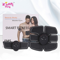 IFORY One Set Wireless Abdominal Muscle Trainer Electric Pulse Treatment Massager Health Care Absorb Fat Fitness