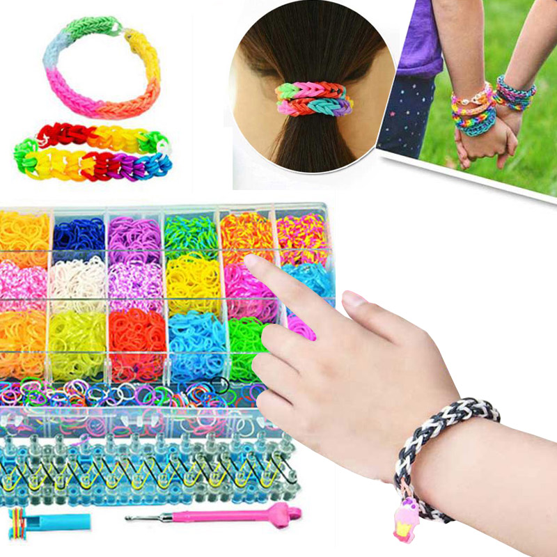 400x Rubber Band DIY Children's Toys Handmade Bracelet Woven Girls Gift Toys