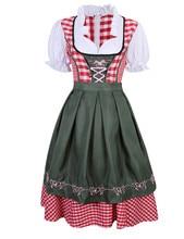 격자 무늬 여자 옷 복장 독일 바이에른 옥토버 페스트 맥주 Wench 제복