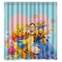 2014 NEW Waterproof Bathroom Shower Curtain Winnie The Pooh 66 X 72 60 X 72 48