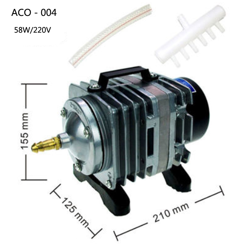 aco 004 electromagnetic aquarium air pump 220v 58w pompe a air aquarium airpump aquarium fish. Black Bedroom Furniture Sets. Home Design Ideas