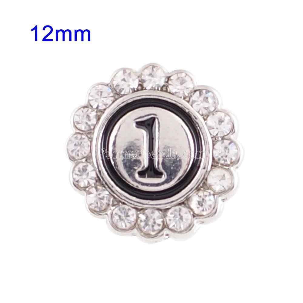 Nouveauté 0-9 numérique boutons pression boucle Fit 12mm gingembre boutons pression bijoux Bracelet pour femmes bijoux livraison gratuite KS8001-S