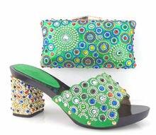 Neues Design Für Afrikanische Schuhe Und Tasche Set Für Party Fashion sommer High Heels Schuhe Und Tasche Set Für Party Freies Verschiffen