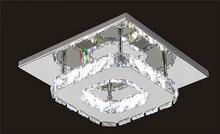 Одной Головы ПРИВЕЛО Кристалл Потолочные светильники Квадратных Блеск Luminarias Пункт Сала для дома проходу коридор крыльцо кухня комната лампы