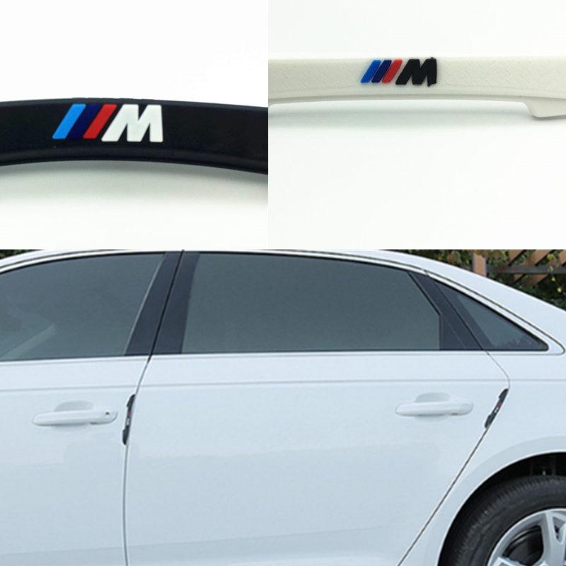 YONGXUN 4pec/set M logo The door crash bar type Car Side Door Edge Protector Strip Scrape Guard Bumpe For Bmw E60 E90 All Model the white guard