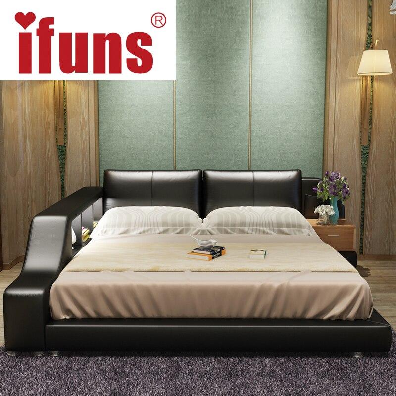 Ifuns king y queen size marco de la cama doble tatami silla de ...