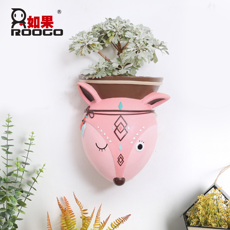 Image 2 - Roogo Wall Mounted Groot Flower Pot Modern Annimal Plant Pot Garden Hanging Pots Home Decor Balcony Decorations Pots Planter-in Flower Pots & Planters from Home & Garden