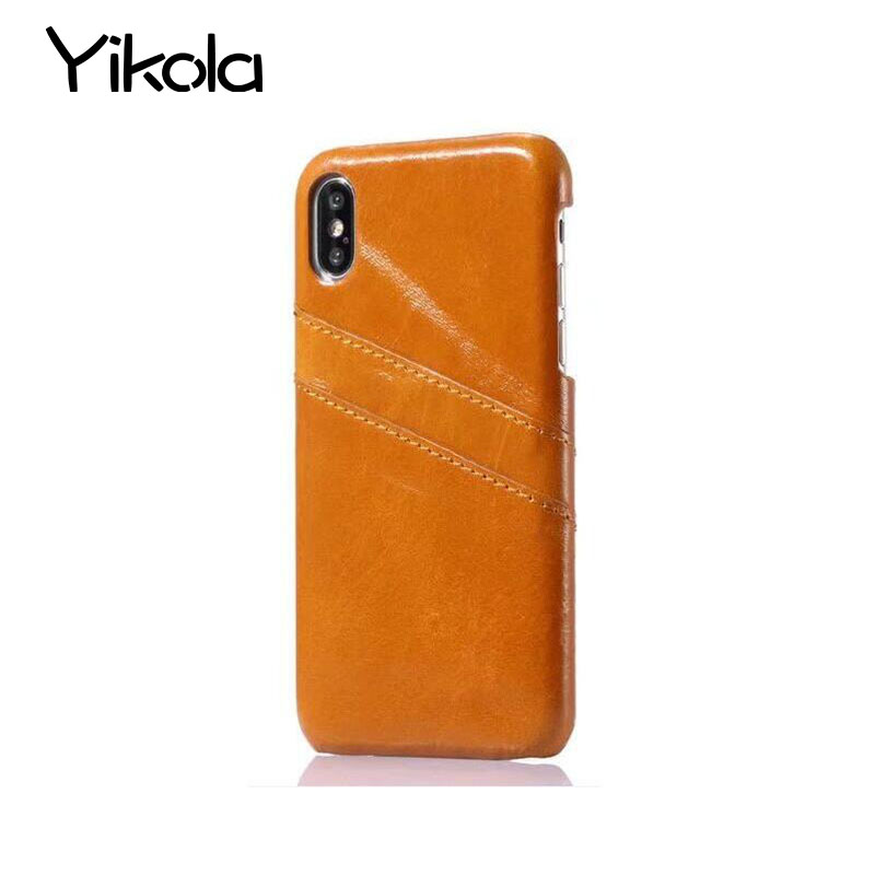 For Apple iPhone X 8 7 Plus Real Leather Skin Crocodile Pattern Leather Back Cover For Samsung S8 Plus Card Phone Case Shell