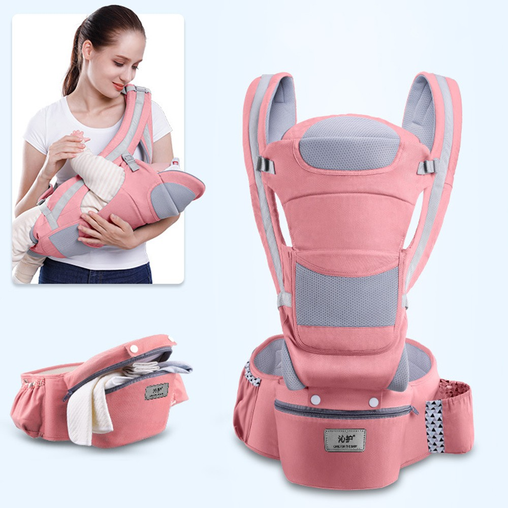 0-48M Ergonomic Baby Carrier Infant Baby Hipseat Carrier Front Facing Baby Wrap Sling For Travel 21
