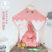 Corner tent children reading area boy girl play house game house Indian tent