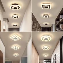Современные светодиодные потолочные лампы для коридора, балкона, спальни, кабинета, lustre plafonnier, для дома, Deco, прохода, потолочный светильник, AC90-265V
