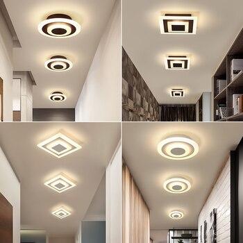 Moderne Led Plafond Verlichting Voor Gang Balkon Slaapkamer Studeerkamer glans plafonnier Home Deco gangpad Plafondlamp AC90-265V