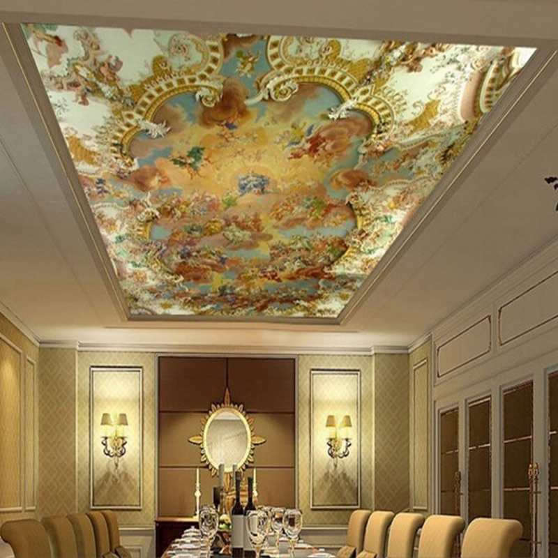 Custom 3D Photo Mural Wallpaper European Style Hotel Living Room Bedroom Ceiling Wall Mural Painting Art Wallpaper Home Decor