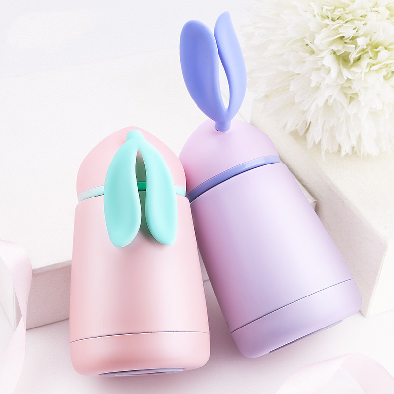 Creative Insulated Stainless Steel Thermos Water Vacuum Bottle Coffee Flasks Travel Container Cute rabbit shape 300ml