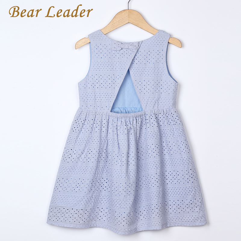 Bear Leader Girls Dresses 2017 New Summer Brand Kids Princess Dress Cute Embroidery Bow Design  for Girls 2-6Y Children Clothes new girls dress brand summer clothes ice cream print costumes sleeveless kids clothing cute children vest dress princess dress
