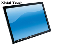 55 inch 4 points ir multi touch screen overlay panel kit work with 55 inch LCD panel and support XP WIN7/8 Linux system