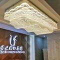 Onda design grande lustre de teto iluminação lâmpada cristal ac110v 220v led luzes foyer cristal, hotel luxo lustre