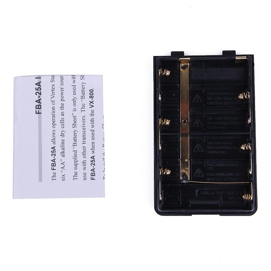 YIDATON FBA-25A 6*AA Battery Case Pack For Yaesu/VERTEX Portable Walkie Talkie FT60R VXA-200 VXA-210 VXA-300 VX-150 VX-160