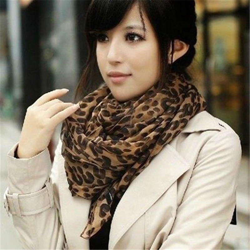 Ladies Warm   Scarf   Fashion Long Leopard Shawl   Scarf     Wrap   Lady Chiffon   Wrap   Stole Gift Winter   Scarves   Cashmere Neck Circle   Scarf